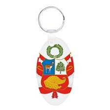 Peru Coat Of Arms Keychains