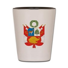 Peru Coat Of Arms Shot Glass