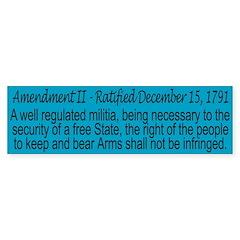 Second Amendment Bumper Bumper Sticker