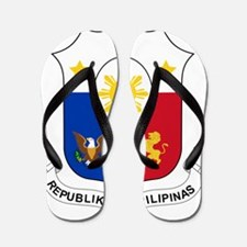 Philippines Coat Of Arms Flip Flops