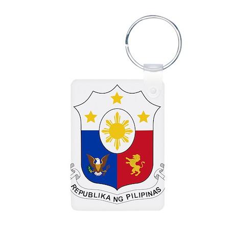 Philippines Coat Of Arms Aluminum Photo Keychain