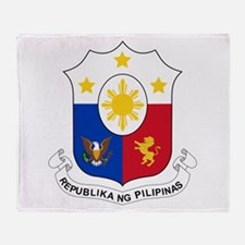 Philippines Coat Of Arms Throw Blanket