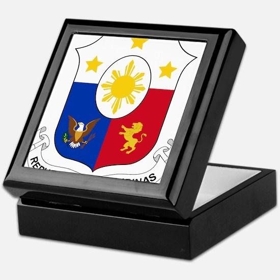 Philippines Coat Of Arms Keepsake Box