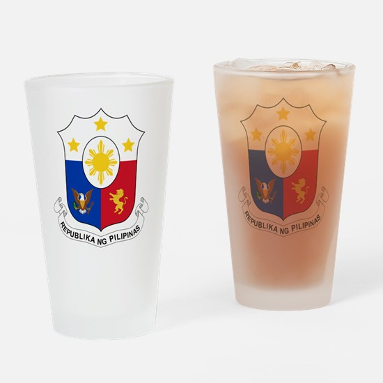 Philippines Coat Of Arms Drinking Glass