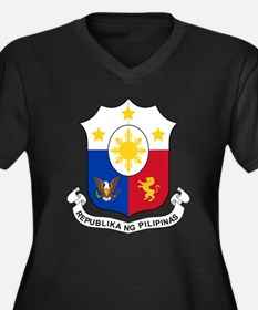 Philippines Coat Of Arms Women's Plus Size V-Neck