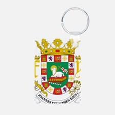 Puerto Rico Coat Of Arms Keychains