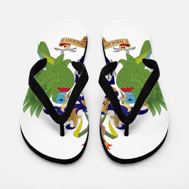 Saint Lucia Coat Of Arms Flip Flops