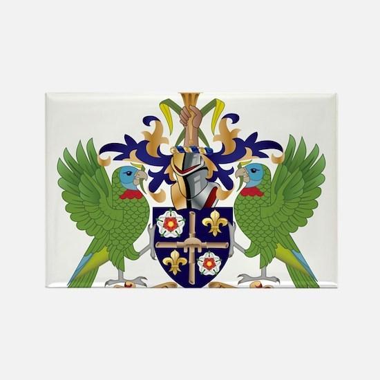 Saint Lucia Coat Of Arms Rectangle Magnet