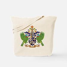 Saint Lucia Coat Of Arms Tote Bag