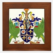 Saint Lucia Coat Of Arms Framed Tile