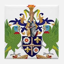 Saint Lucia Coat Of Arms Tile Coaster