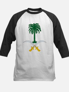 Saudi Arabia Coat Of Arms Kids Baseball Jersey