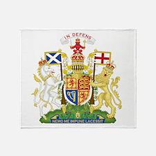Scotland Coat Of Arms Throw Blanket