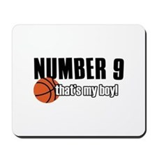 Basketball Parent Of Number 9 Mousepad