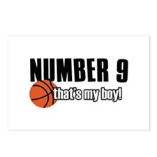 Basketball Parent Of Number 9 Postcards (Package o