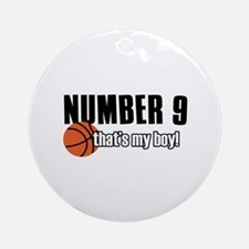 Basketball Parent Of Number 9 Ornament (Round)