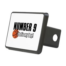 Basketball Parent Of Number 9 Hitch Cover