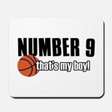Basketball Parent Of Number 9 Mousepad