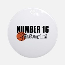 Basketball Parent Of Number 16 Ornament (Round)