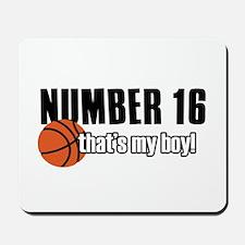 Basketball Parent Of Number 16 Mousepad