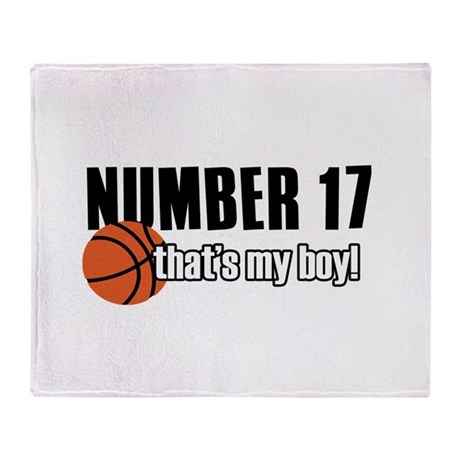 Basketball Parent Of Number 17 Throw Blanket