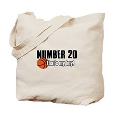 Basketball Parent Of Number 20 Tote Bag