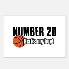Basketball Parent Of Number 20 Postcards (Package
