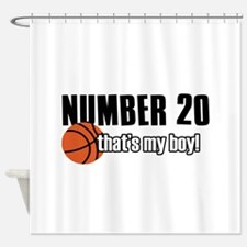 Basketball Parent Of Number 20 Shower Curtain