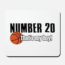 Basketball Parent Of Number 20 Mousepad