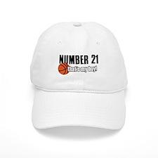 Basketball Parent Of Number 21 Baseball Cap