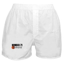 Basketball Parent Of Number 21 Boxer Shorts