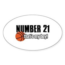 Basketball Parent Of Number 21 Decal