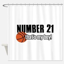 Basketball Parent Of Number 21 Shower Curtain