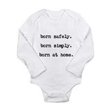 Unique Homebirth Long Sleeve Infant Bodysuit