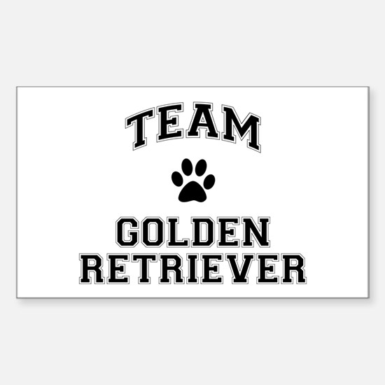Team Golden Retriever Sticker (Rectangle)
