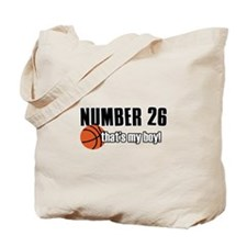 Basketball Parent Of Number 26 Tote Bag