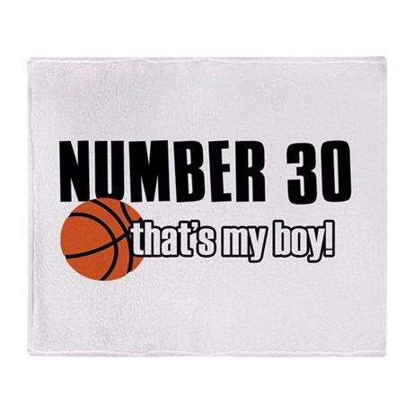 Basketball Parent Of Number 30 Throw Blanket