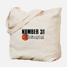 Basketball Parent Of Number 31 Tote Bag