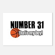 Basketball Parent Of Number 31 Postcards (Package