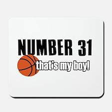Basketball Parent Of Number 31 Mousepad