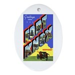 Fort Knox Kentucky Oval Ornament