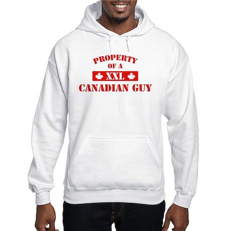Property Of A Canadian Guy Hooded Sweatshirt