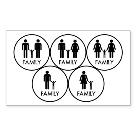 Family black Sticker