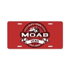 Moab Red Aluminum License Plate
