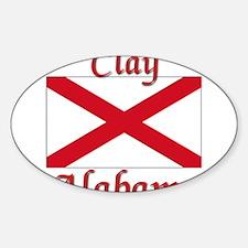 Clay Alabama Sticker (Oval)