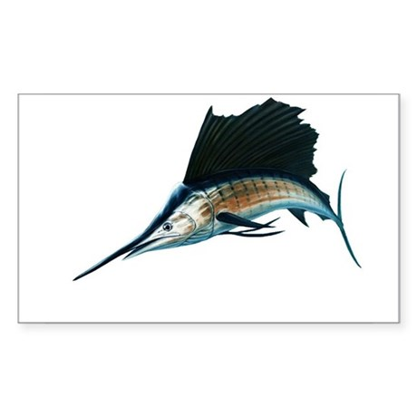 Sailfish Sticker (Rectangle)