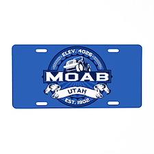 Moab Cobalt Aluminum License Plate