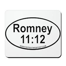 Romney Black Oval copy.png Mousepad