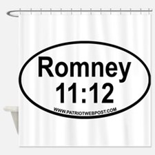 Romney Black Oval copy.png Shower Curtain