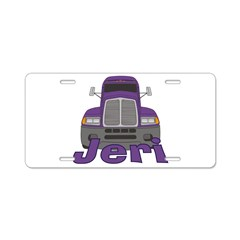 Trucker Jeri Aluminum License Plate